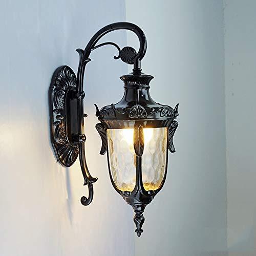 Skingk Lanterna parete esterna Down Light Black Metal in acciaio inox Vintage Garden lampada a LED in alluminio nero opaco dell'acciaio inossidabile del metallo Vintage Garden E27