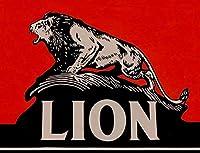 ライオンの新しいガスオイルサイン素朴な壁の装飾のブリキ看板