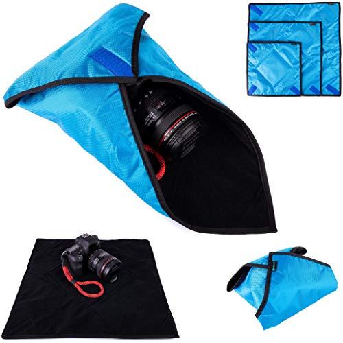 Lens-Aid Einschlagtuch für Kamera: Gepolsterte Kameratasche BZW. Beutel als Schutz für DSLR, Digitalkamera, Objektiv UVM. Einschlagtasche (Größe L)