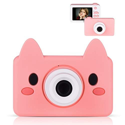 Miavogo Kinderkamera Kamera für Kinder 8 Megapixel 2 Zoll HD Display 1080P (Rosa...