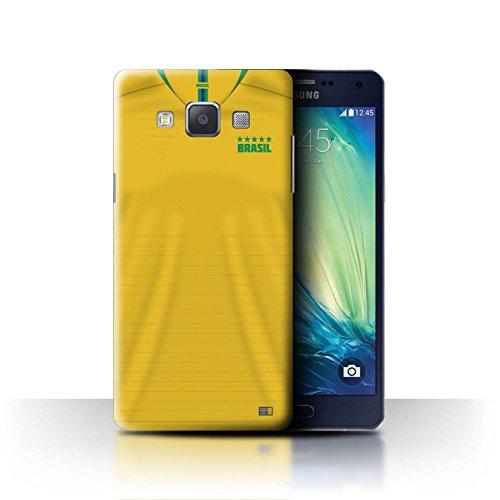 Stuff4 Hülle/Case für Samsung Galaxy Grand Max/Brasilien/Brasilianer Muster/Weltmeisterschaft 2018 Fußball Trikot Kollektion