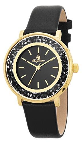 Burgmeister Armbanduhr für Damen mit Analog Anzeige, Quarz-Uhr und Lederarmband - Wasserdichte Damenuhr mit zeitlosem, schickem Design - klassische, elegante Uhr für Frauen - BM537-222 St. Lucia