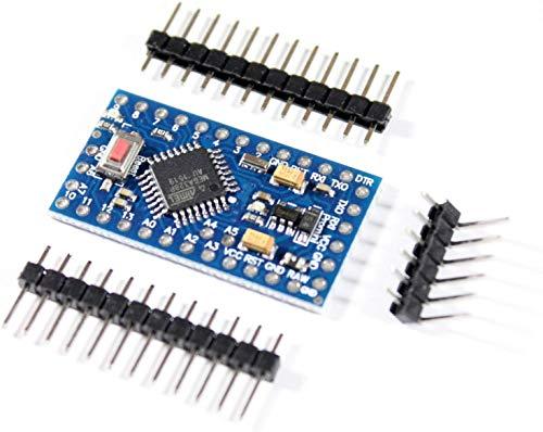 Paradisetronic.com Microcontroller PRO Mini con Atmel AVR ATMEGA328P, 3.3V 8MHz, Compatibile con Arduino