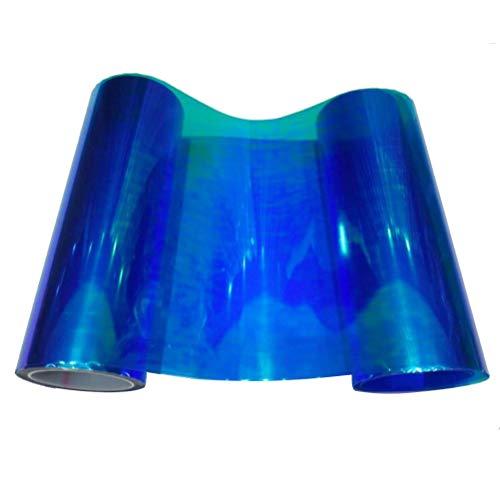 VOSAREA Scheinwerfer Folie Auto Licht Aufkleber Selbstklebend 30x210cm (Blau)