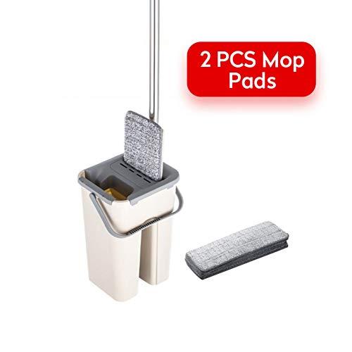DIANZI mop 360 ° draaibare, draaibare vlakke mop, zonder lui microvezel mop voor de houten vloer in de keuken