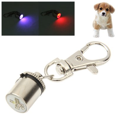 Pet Dog Cat Collar Light for Night Safety Two Colours Blinking Pendant Hanging Ornament Fashion Comfortable Cylinder Molded Red & Blue Light Movoo