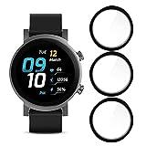 Giaogor Schutzfolie für Ticwatch E3, HD klar Flexible TPU Folie [Blasenfreie] [Kompatibel mit Hülle] [Premium-Qualität]Bildschirmschutzfolie (3 Pack)