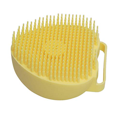 Dog Brush Mud Daddy Pet Dog Bath Brush Comb Silicone Spa Shampoo Massage Brush Shower Hair Removal Comb for Dogs Cats Cleaning Grooming Tool Blue