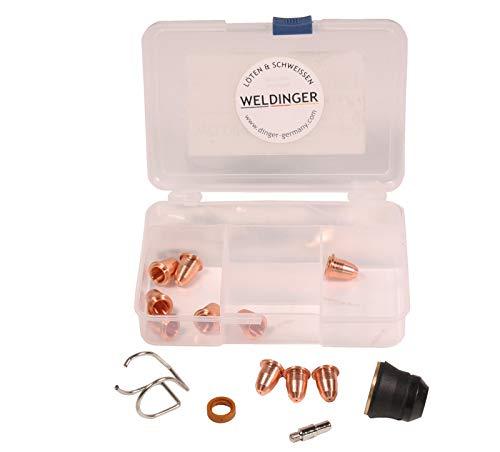 WELDINGER CUTSet3 Verschleißteileset 23-teilig für Plasmaschneider PS 45 pro/PS 55/ PS 56 Brennertyp S45 PT60 P60