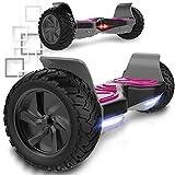 COLORWAY Hoverboard SUV 8.5 Pouces, Gyropode Tout-Terrain 700W avec LED, Scooter Électrique Auto-équilibrage pour Enfant et...