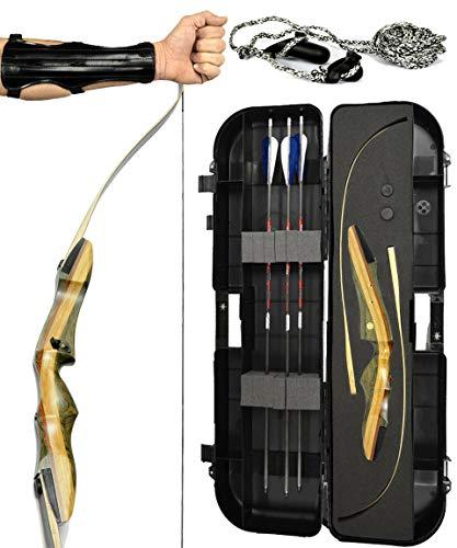 Spyder Takedown Recurve Bow - Ready 2 Shoot Archery Set | Includes Bow, Instructions, Premium Carbon Arrows, Recurve Bow Case, Stringer Tool, Armguard, 35 lb RH -Blue