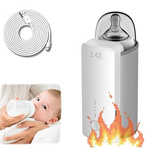 Scalda Biberon Neonato, Ricarica Wireless, Riscaldamento a Temperatura Costante, Batteria ad alta...