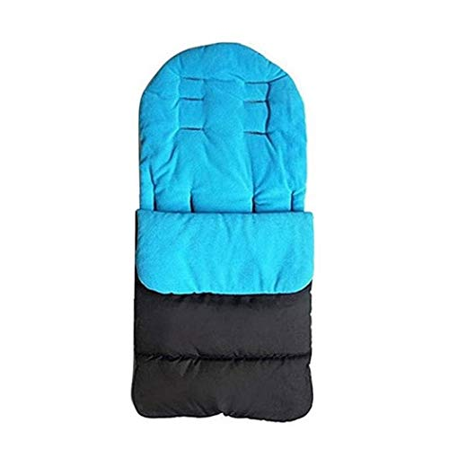 Yililay Los Dedos del pie acogedoras Cochecito Cochecito de bebé del Cochecito de niño del trazador de líneas del Saco de Dormir Universal a Prueba de Viento de algodón Acolchado Azul