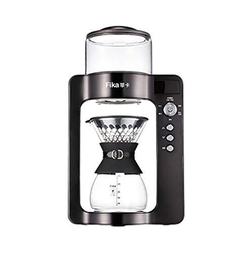 RUIXFCA Automatische Kaffeemaschine, Kaffeemaschinen-Filtertasse, intelligente Einstellung der Wassertemperatur, intelligentes Dämpfen, dualer Betriebsmodus, A