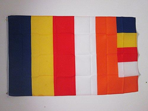 AZ FLAG Flagge Buddhist 150x90cm - Buddhismus Fahne 90 x 150 cm - flaggen Top Qualität