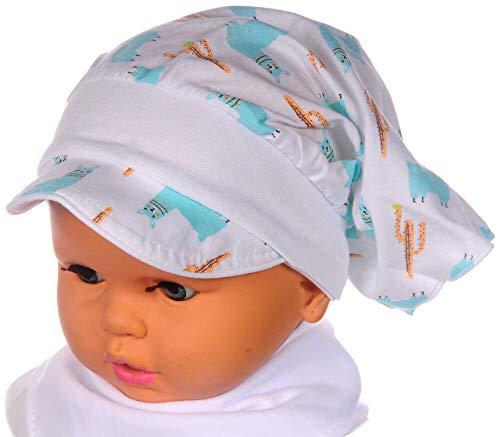 La Bortini Kopftuch Baby Kinder Sommer Mütze Schild Mützchen Kopfbedeckung Bandana...