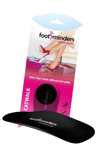 Footminders Catwalk - Slim FIt Orthotic Arch Support Insoles for High Heel Shoes, Pumps, Sandals and Boots (Pair) (Small: Women 7-8½) - Relieve Foot Pain Due to Wearing High Heels
