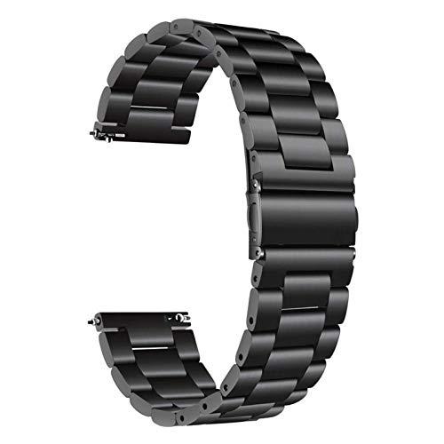 18mm 22mm 20 mm banda de 24 mm para Samsung Galaxy Watch 42 46mm Galaxy Watch 3 45mm 41mm correas de acero inoxidable 10688 (Band Color : Black, Band Width : Active 2 40 or 44 mm)