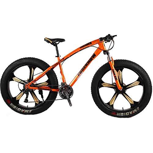 Bicicleta de montaña Bicicleta MTB de adulto Gran Playa del neumático de motos de nieve Bicicletas bicicleta de montaña for hombres y mujeres de 26 pulgadas ruedas ajustables velocidad doble freno de