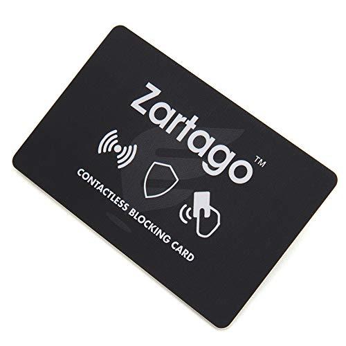 Zartago RFID Blocker Card | Proteccion RFID para Tarjetas de crédito y Pasaporte | Tarjeta Anti RFID Bloqueo antirrobo para Cartera o Billetera (Single)