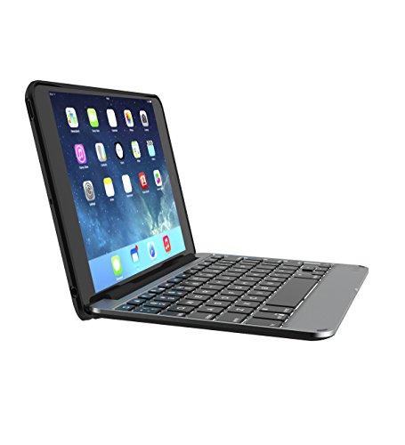 ZAGG IM4ZF2-BBF Tastatur für Mobilgeräte AZERTY Schwarz, Silber Bluetooth - Tastaturen für Mobilgeräte (AZERTY, Apple, Apple iPad mini 4, Schwarz, Silber, CE, FCC, Kabellos)