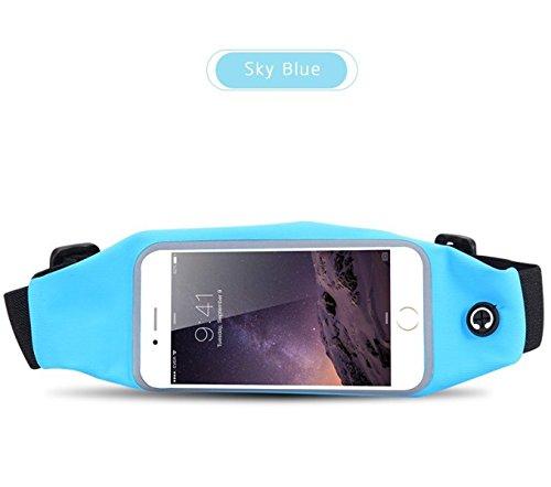 LYFLYF Extérieur Sports Imperméable à l'eau Sécurité Course à Pied Ceinture Sport Téléphone Cellulaire Multifonctions Hommes Dames Taille-Paquets Sac,F