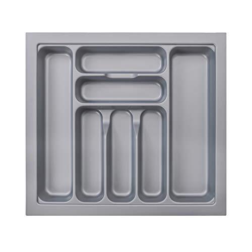 RH Art Schubladeneinsatz 60er Besteckeinsatz Küche Besteckkasten für Schubladen Küchenschrank aus Kunststoff 517 x 474 mm