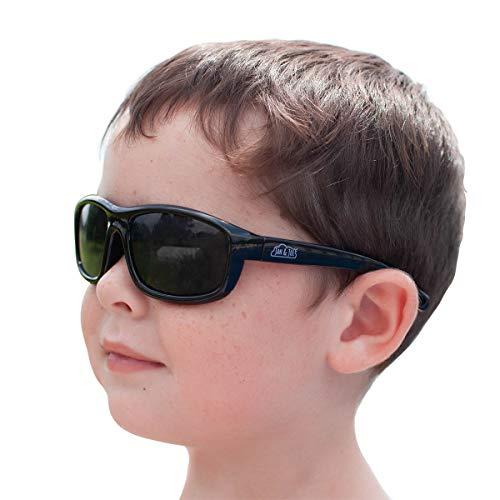 Price comparison product image JAN & JUL Kids UV-400 Polarized Sun-glasses with Strap (M: 6m-6Y,  Black)