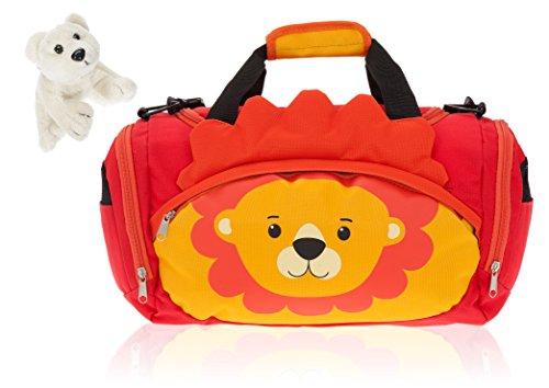 FABRIZIO Kindersporttasche Zoo Sporttasche Kindertasche + Eisbär (Leon Löwe 0200)
