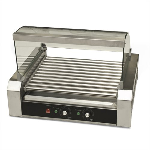 Best Choice Products Hot Dog Roller 30 Dogs Grill Cooker W/Glass Hood Commercial Machine Vending