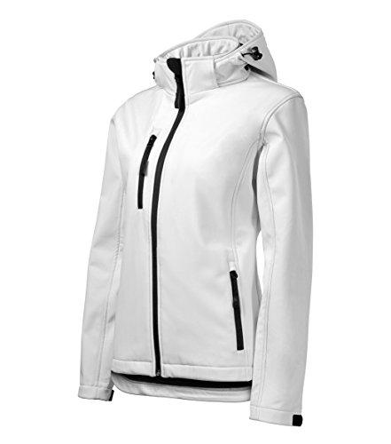 OwnDesigner by Adler Outdoor-softshelljas voor dames, met capuchon, winddicht, functioneel regenbestendig, waterafstotend, ademend, getailleerd