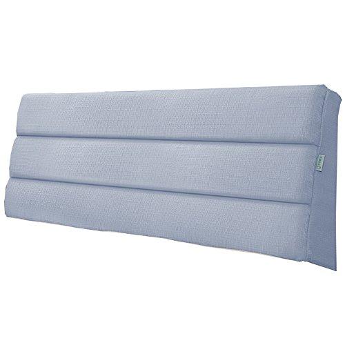 YSDHE Large Cama cojín Paquete Blando Cama Doble Lino Posterior de la Cintura Almohada Tejido Adecuado for cabecero 5 Colores 5 tamaños de Altura 50 cm (Color : Blue Gray, Size : 120 * 5 * 50cm)
