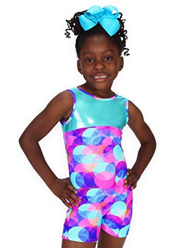 Leap Gear Gymnastik Biketard/Unitard 3 | Kinder X-Small Pastellpunkt