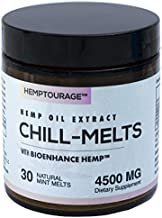Hemptourage Chill Melts, 30 Natural Mint Melts, Mood Support, Anxiety Support, 4500MG, Highly Bioavailable, Optimal Absorption, Fast Onset, Doctor Formulated, Organically Grown, Made in USA