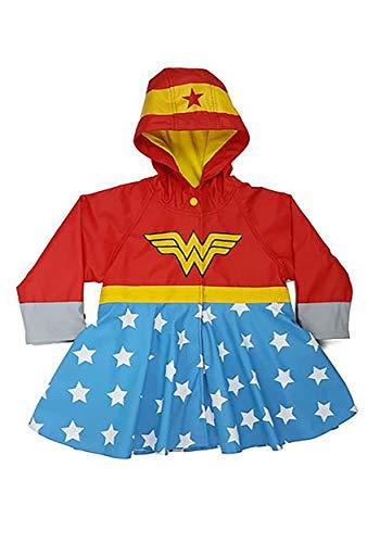 Western Chief Apparel Girls' Little Western Chief Kids Wonder Woman Rain Coat, red, 5