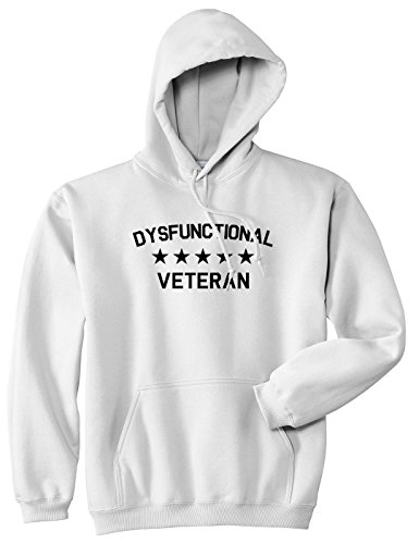 Kings Of NY Dysfunctional Veteran Mens Pullover Hoodie XXX-Large White