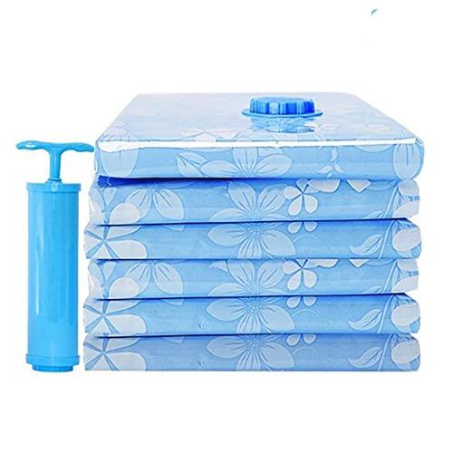 11 Bolsa de almacenamiento al vacío engrosada para bolsa de tela comprimida con mano mp Manta reutilizable Organizador de colchas para ropa-80x60cm 6, Israel