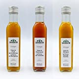 San Martin- lot de 3 vinaigres fruits exotiques -pulpe de kalamansi,pulpe de mangue,pulpe de fruit de la passion 3x25cl