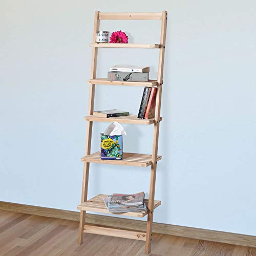 Book Shelf for Living Room, Bathroom, and Kitchen Shelving, Home Décor by Lavish Home- 5-Tier...