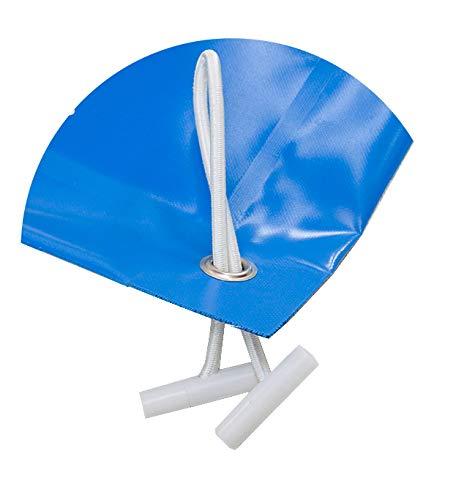 Bâche opaque pour piscines de 6 x 2 mBâche de protection en PVC de 650 g/m² 6,30x2,30metros Bleu (extérieur)/noir (intérieur)