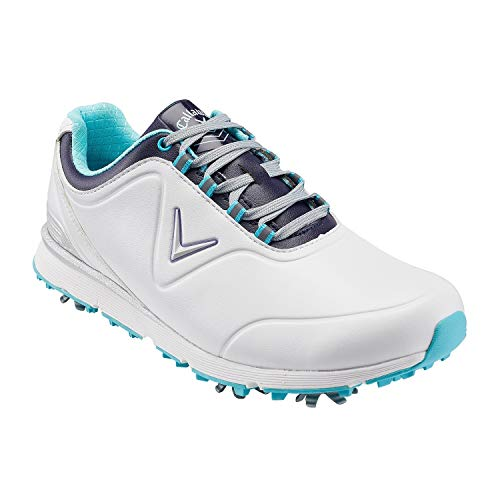 Callaway Damen Lady Mulligan Waterproofs Golfschuhe, Weiß White/Blue, 41 EU