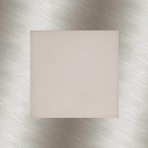 Heitronic LED Außenwandeinbauleuchte LED Panel Silber IP20   LEDs fest verbaut 3,5W 95lm warmweiß   27635
