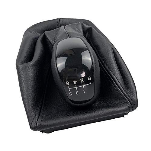 Yuchen Für Mercedes-Benz E-Klasse W211 S211 2002-2009 6 Geschwindigkeits-Gamasche Boot-Abdeckungs-Fall-Kragen Zahnrad-Stock-Schaltknauf Deckung Gangschaltung Ko (Color : Have Logo)