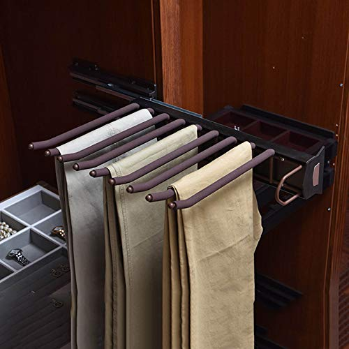 Perchero para Pantalones Multifuncional Ahorra Espacio Percha para Ropa Percha Extensible Antideslizante, Resistente Al óxido Y Duradero para Corbata De Falda De Pantalones