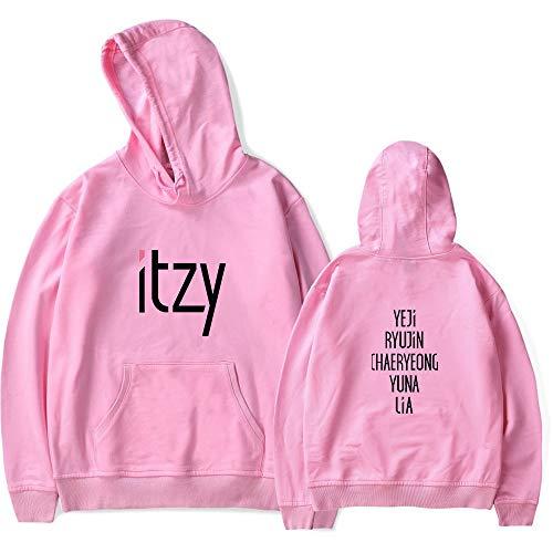 ITZY Sweat Capuche Poche Femme Pull Hip Hop Homme Chemise Swag Manteau Automne Hiver T Shirt Manche Longue Haut Blouse Tunique Baggy Jumper Top Sweatshirt Hoodie Streetwear A12587WY0253XL