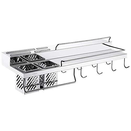 ZYLBDNB Kitchen Spice Rack - Estante de Pared de Cocina de Acero...