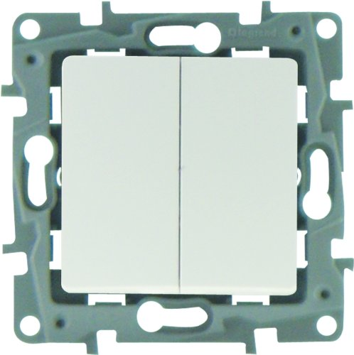 Legrand Niloe LEG96606 - Conmutador y pulsador, color blanco