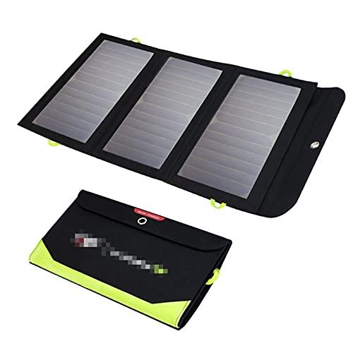 YSNUK Cargador Solar Portátil para Teléfono Móvil, Batería Integrada De 10000mAh, 5V, 21W
