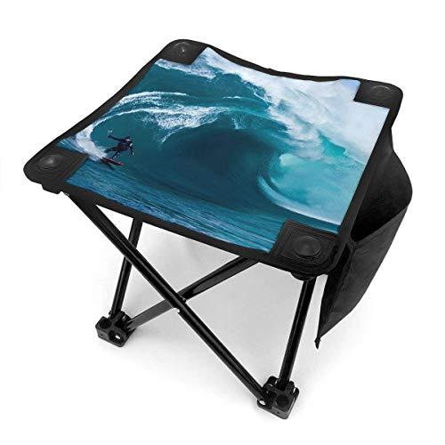 End Nazi Tabouret de Camping chaises Pliantes Beach Surf Ocean Waves Siège de Chaise Portable Bleu