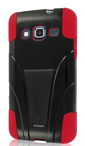 MPERO Impact X Series Kickstand Hülle Tasche Hülle for Samsung ATIV S Neo I800 I8675 - Red